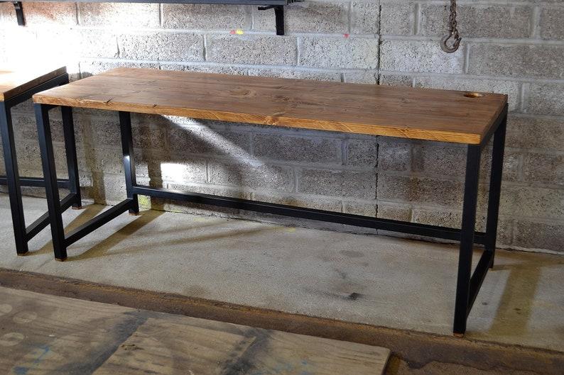 industrial office desk pc workstation home study bespoke etsy rh etsy com industrial office desk chair industrial office desk with drawers