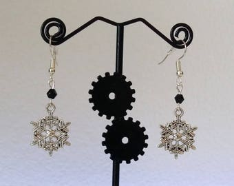 Snowflake earrings with/without stone