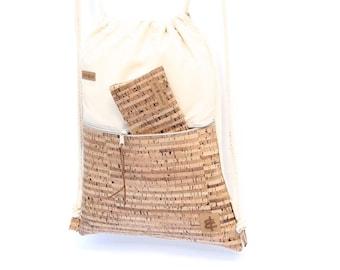 Backpack sand & stripes