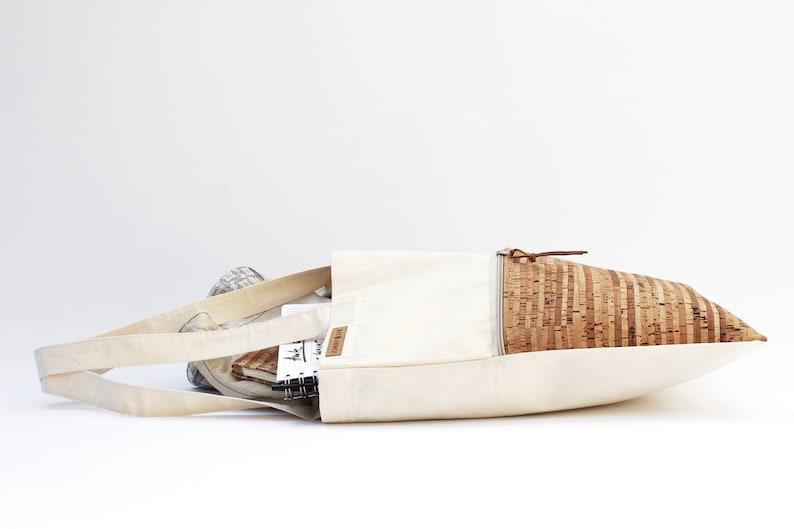 Tote bag CORK  sand /& stripes