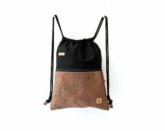Backpack black & brown