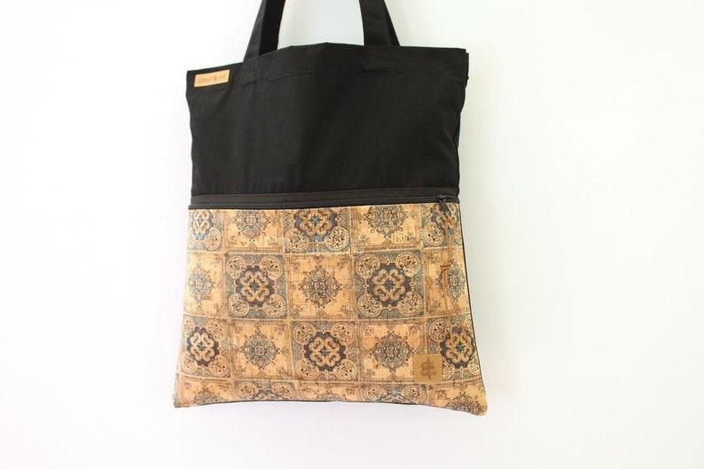 9f825e803 Tote bag ZIP // black & portugues | Etsy