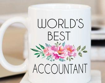 World's Best Accountant Mug, Accountant Mug, Accountant Gift, Accounting,Profession, Occupation Mug,Tax Returns,Personalized Mug,Custom Gift