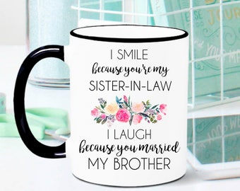 Best Fcking Sister In Law Black and White MugGift Sister