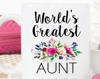 World's Greatest Aunt, Aunt Mug, Aunt Gift, Aunt Coffee Mug, Best Aunt, New Aunt, Unique Aunt Gift, Sister Mug, Pregnancy Reveal