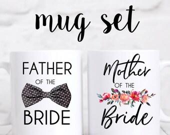 Mother & Father of the Bride/Groom Mug Set, Father of the Bride, Mother of the Bride, Father of the Groom, Mother of the Groom, Wedding Gift