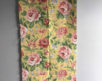 "Rose heavy linen fabric, 20"" x 50"" furnishing textiles."