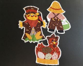 Vintage cut n sew fabric pieces, Autumn Harvest theme.