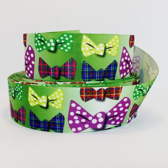 "1 1/2"" avec noeud ruban, ruban avec gros noeud s'inscrit, chien ruban, imprime de ruban"