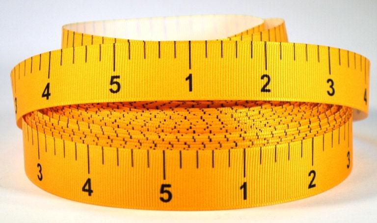 Sewing Tape Measure Ribbon 7/8 Printed Grosgrain