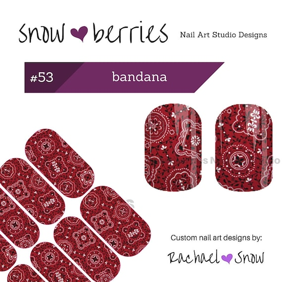 Jamberry Nails Custom Nail Art Design 1 Sheet 2 Mani 2 Etsy