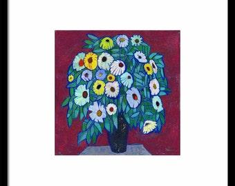 Print of OIL STILL LIFE oil painting, still life prints, floral print, floral art prints, flower bouquet print, flowers art print, wall art