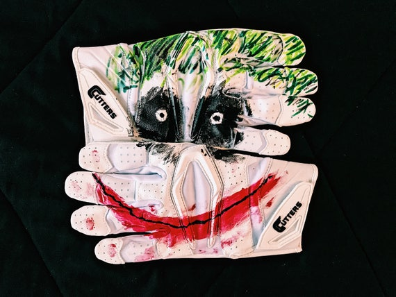 Joker Cutters Football Gloves Etsy