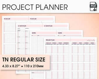 Project standard travelers notebook inserts printable, standard tn inserts (project planner, goal planner, to do list, goal tracker)