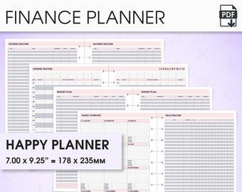 Budget & finance happy planner printable inserts (finance inserts, budget inserts, bill tracker, savings tracker, expense tracker, debt)