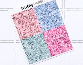 Style Glitter Headers (stickers for Erin Condren Life Planner - Vertical)