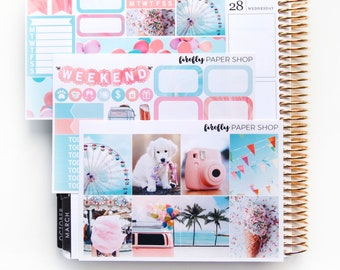 Fun in the Sun MINI Weekly Kit (stickers for Erin Condren Life Planner - Vertical)