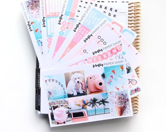 Fun in the Sun DELUXE Weekly Kit (stickers for Erin Condren Life Planner - Vertical)