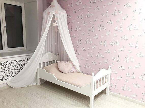 Superieur White Bed Canopy, Girl Bed Canopy, Crib Canopy, Play Room Canopy, Canopy  For Nursery, Baldachin, Handing Canopy, Play Tent Canopy, Canopy