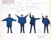 The Beatles Rare Signed HELP Repro Replica Cover LP Album Lennon McCartney 1965