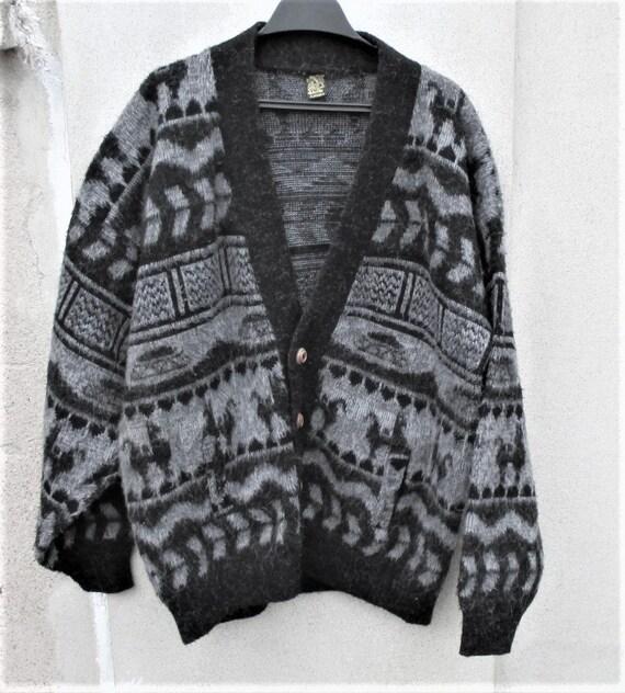 Vintage Alpaca Sweater, Peruvian Wool Sweaters, 19