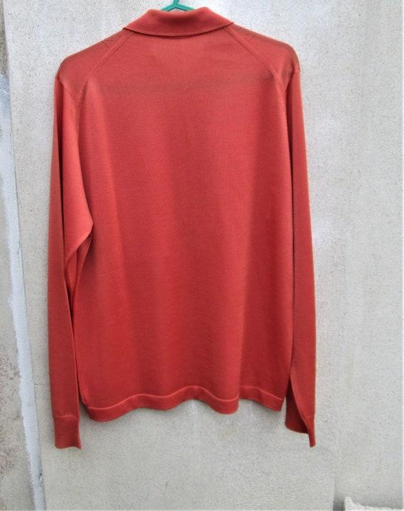 Vintage 1960's French Top, orange clothing, 1960'… - image 3