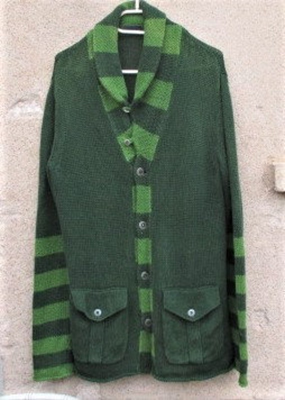 Vintage KENZO Sweater/Coat, 1980's KENZO, green sw