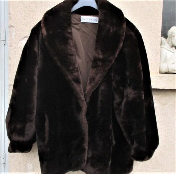 Vintage French Faux Fur, French coats, designer Fr