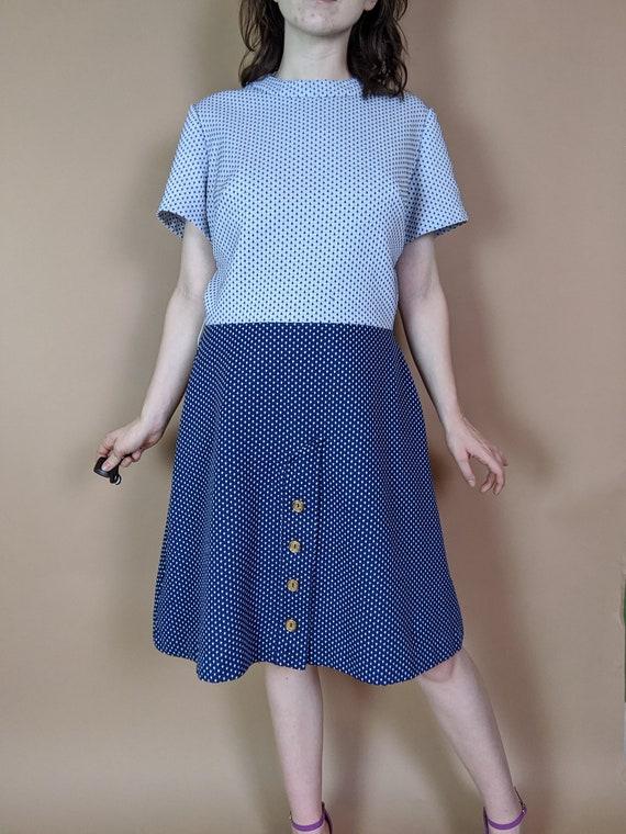Polka Dot 1960s Polyester Dress