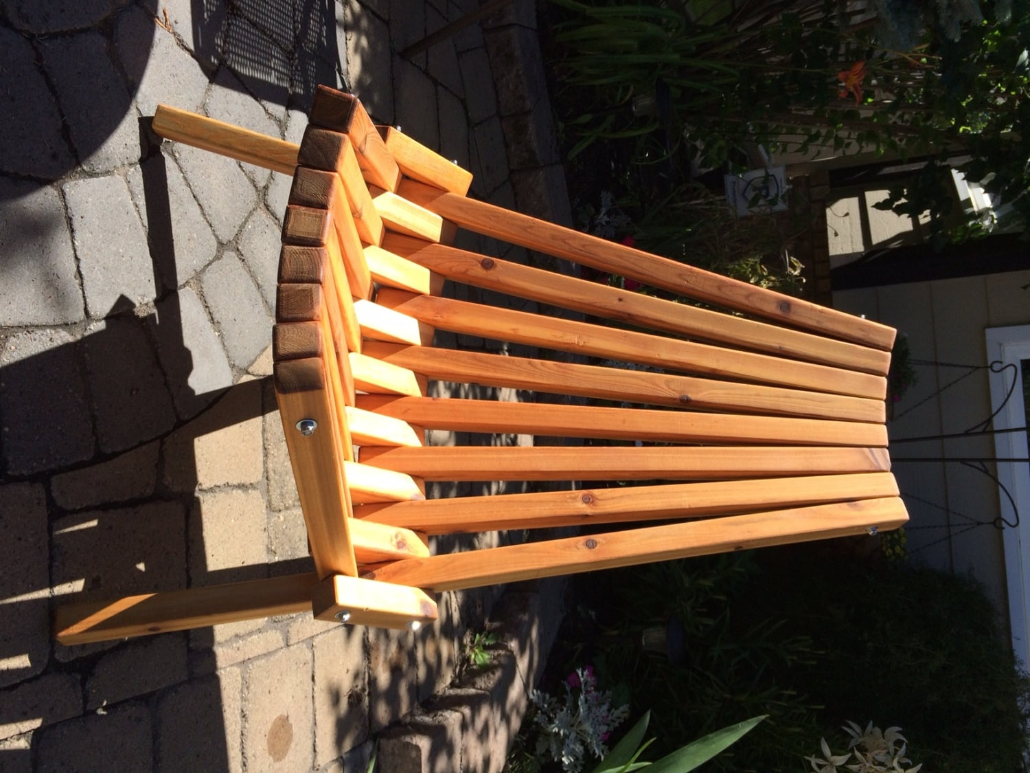 Wooden Folding Deck Patio Chair Finished Etsy