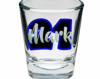Personalised Shot Glasses **Buy 5, get 1 free** - 21st, Birthday, Wedding, Bridal Parties, Stag Do, Hens Night, Unique, Original. NZ