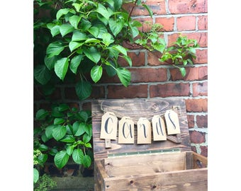Rustic Wooden Wedding Cards Crate Box
