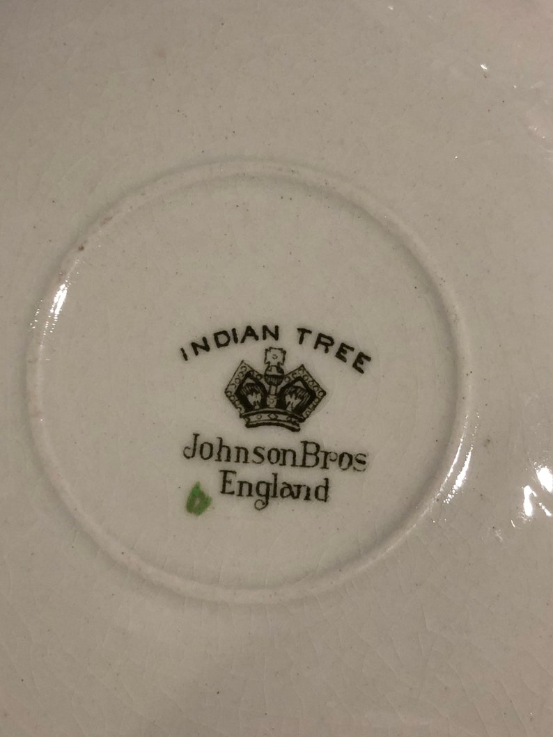 Cup and Saucer Indian Tree Made in England Johnson Brothers