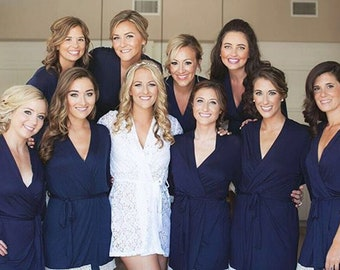 bridal party robes wedding robes for women cotton bridesmaid robes for bridesmaid gift bridal robe for bride robe set  of 6 4 5 6 7 8 9 11