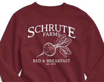 2bf9f166c Schrute Farms Sweatshirt, The Office Sweatshirt, The Office Shirt, Schrute  Farms Shirt, The Office Schrute Farms