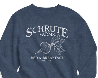Schrute Farms Breakast Beets Boys Pullover Sweater Funny Crew Neck Knitted Sweater for 2-6T
