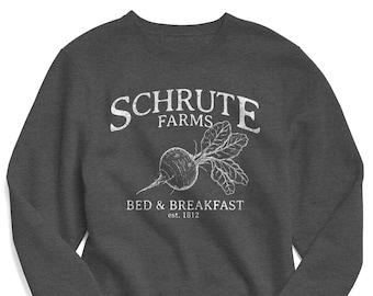 Schrute Farms Sweatshirt, The Office Sweatshirt,  The Office TV Show, The Office Shirts, Schrute Farms Shirt, Schrute Farms Bed & Breakfast
