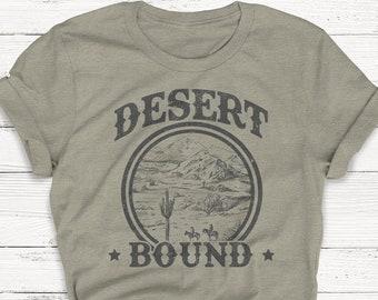 f16343398 Summer Desert T-Shirt, Ladies Unisex Crewneck Shirt, Outdoor T-shirt, Cute  Tshirt, Retro, Vintage, 70's, Nature, Outdoor, Gift
