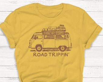 9bbf53d460 Road Trip T-Shirt, Roam, Ladies Unisex Crewneck Shirt, Cute Tshirt, Retro,  Vintage, Hippie, 70's, Nature, Outdoor, Party, Gift, Funny Tee