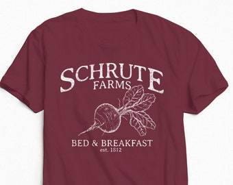The Office Shirt - The Office Graphic Tee - Schrute Farms Shirt - The Office Show - Graphic Tee - Vintage Shirt
