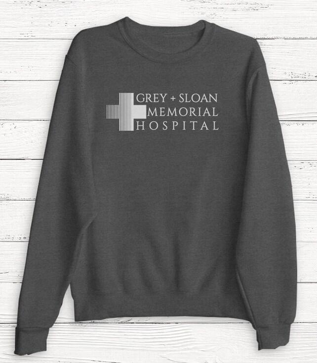 Camiseta gris Sloan Memorial Hospital anatomía de Grey de | Etsy