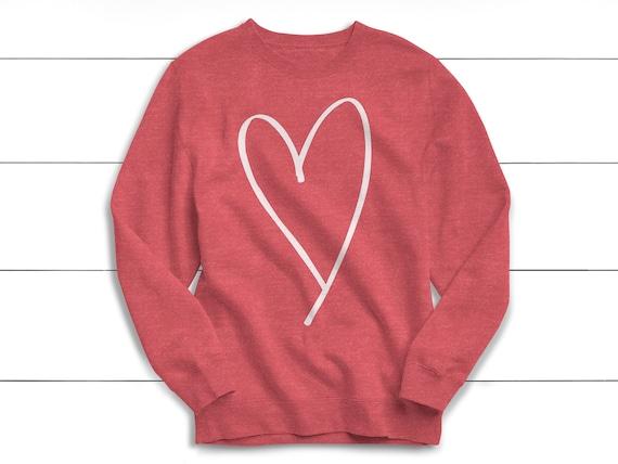 Valentine's Day Sweatshirt, Love, Heart Sweatshirt, Anti Valentines, Heart Shape, Sweater, Women's Sweatshirt, February, Heart, Snuggle