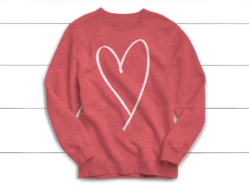 Valentine's Day Heart Sweatshirt