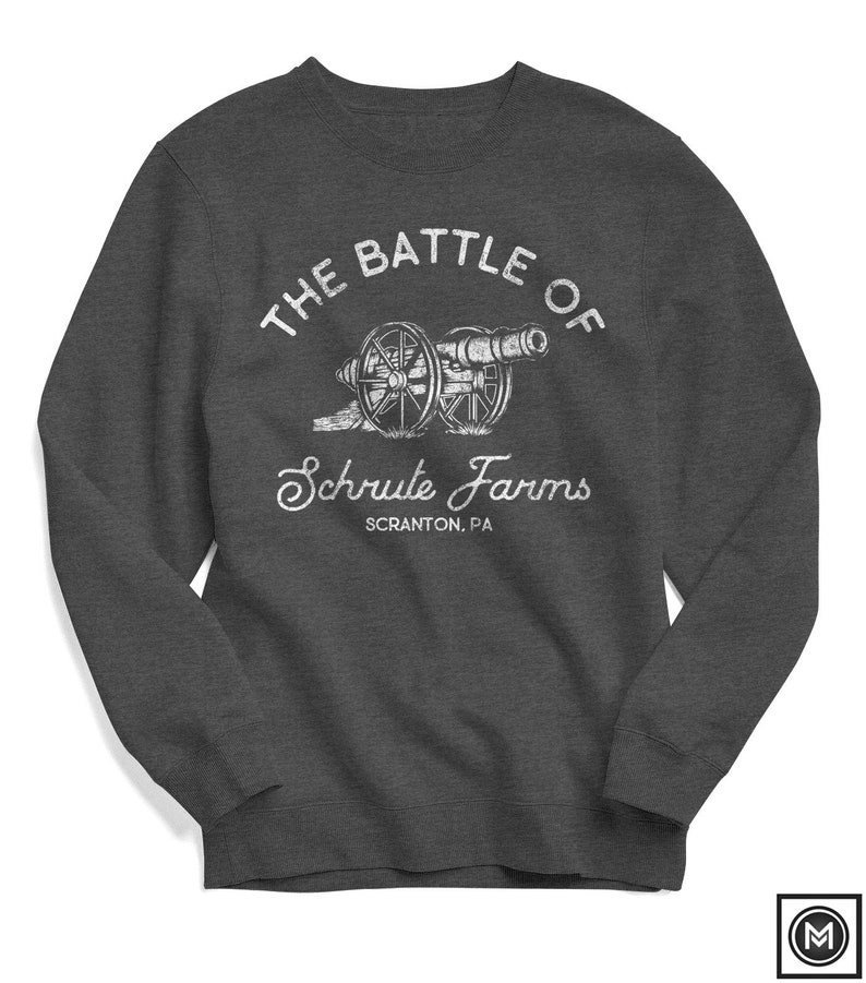 6e76d375c The Office Sweatshirt Battle of Schrute Farms Scranton   Etsy