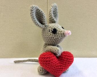 BILBY, Amigurumi Bilby, Crochet Toys, Australian Native Animals, Australian Gifts, Mother's Day Gifts, Birthday Gifts, Australian Souvenirs