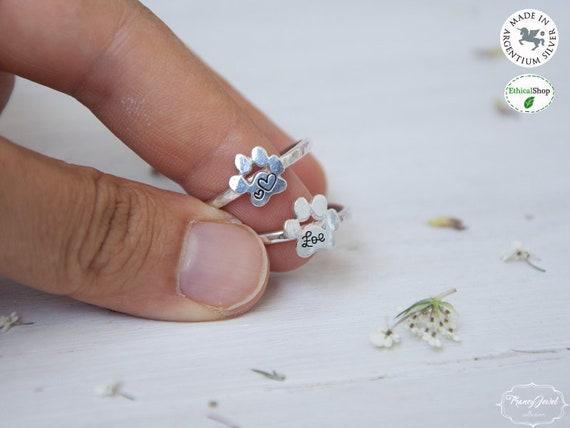 Memorial jewelry, personalized cat ring, custom dog ring, memorial ring, pet lover gift, custom pet name, pet jewelry, cat lover gift