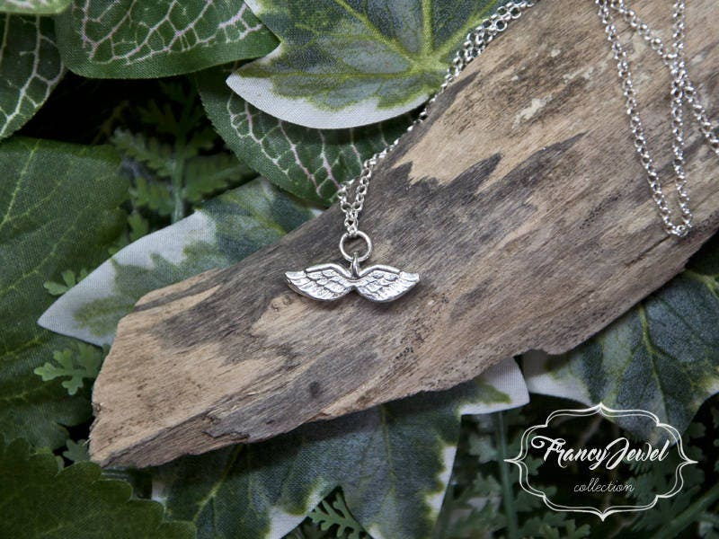 Angel Wings Necklace Dainty Angel Necklace Angel Wing Jewelry
