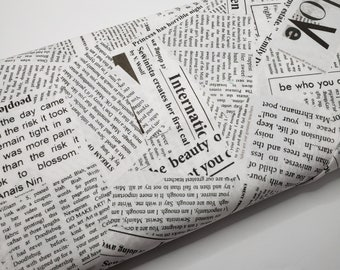Newsprint Fabric Collection Cotton and Steel Fabrics 12 Fat Quarters or 12 Half Yards