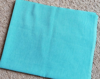 Alison Glass Aquamarine Blue Chambray Kaleidoscope Solid Woven Fabric by the Yard