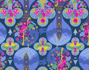 PREORDER Alison Glass Road Trip Treehouse Print in Night Colorway Fabric by the Yard Arrives September 2018
